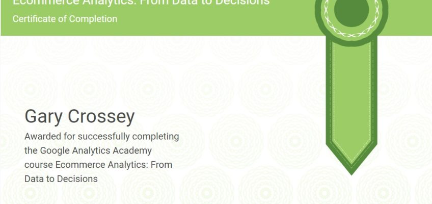 Google Ecommerce Analytics Certification