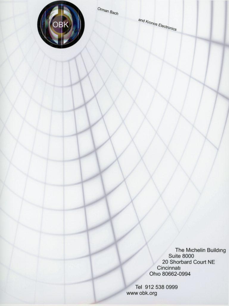 Letterhead design sample by graphic designer Gary Crossey web Pattern