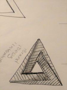 BRANDING - Graphic Designer Gary Crossey - rough draft logo design