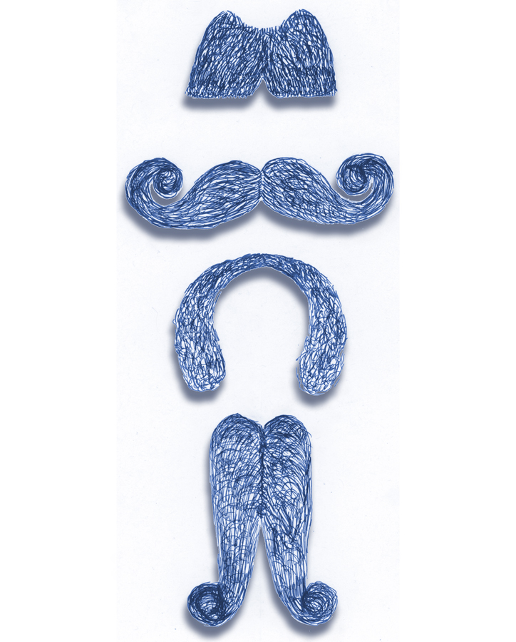 Moustache Drawing by Gary Crossey for Asheville IrishGuy Design Studio