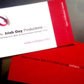 ASHEVILLE BUSINESS CARD: Irish Guy Productions