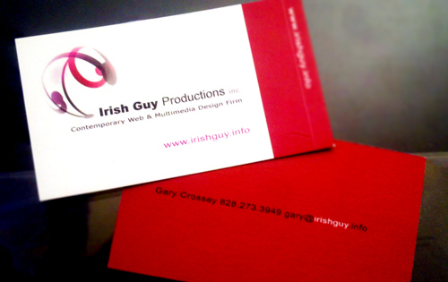 ASHEVILLE BUSINESS CARD: Irish Guy Productions