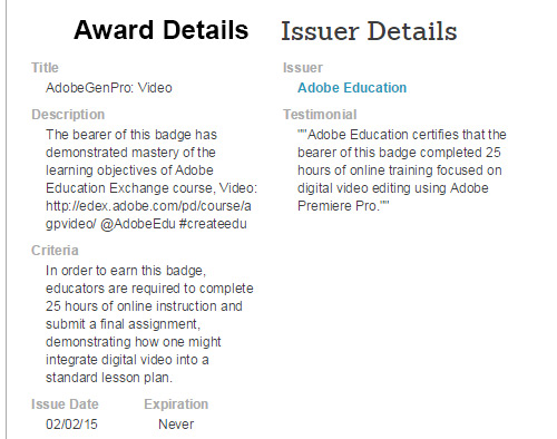 Asheville Video Editing Adobe Award