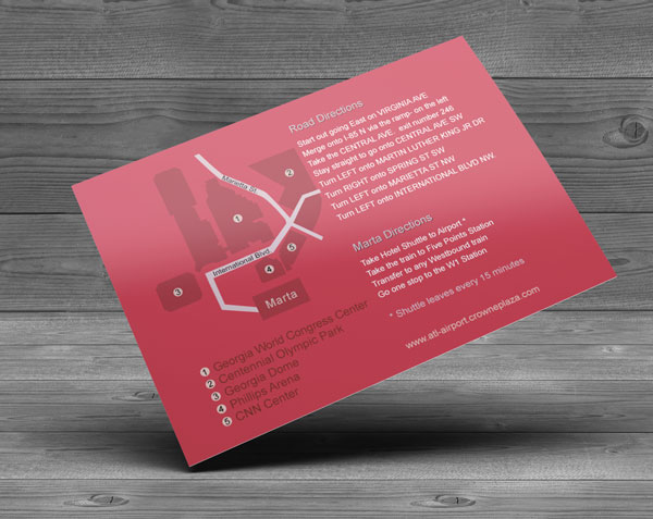 Direct mail sample for Crowne Hotel