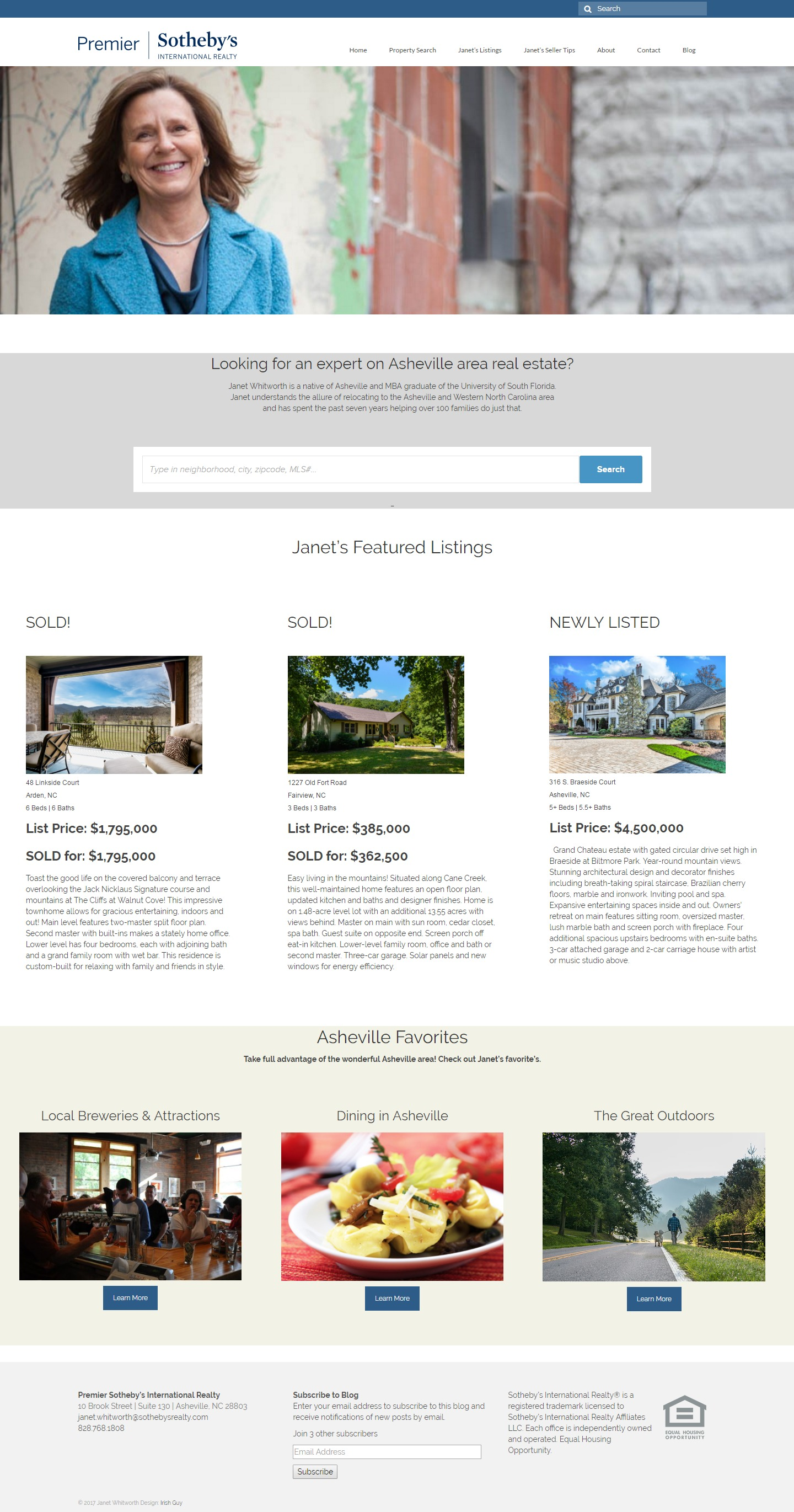 Asheville Sothebys Website Design