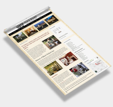 Web Design Sample Asheville Bed & Breakfast