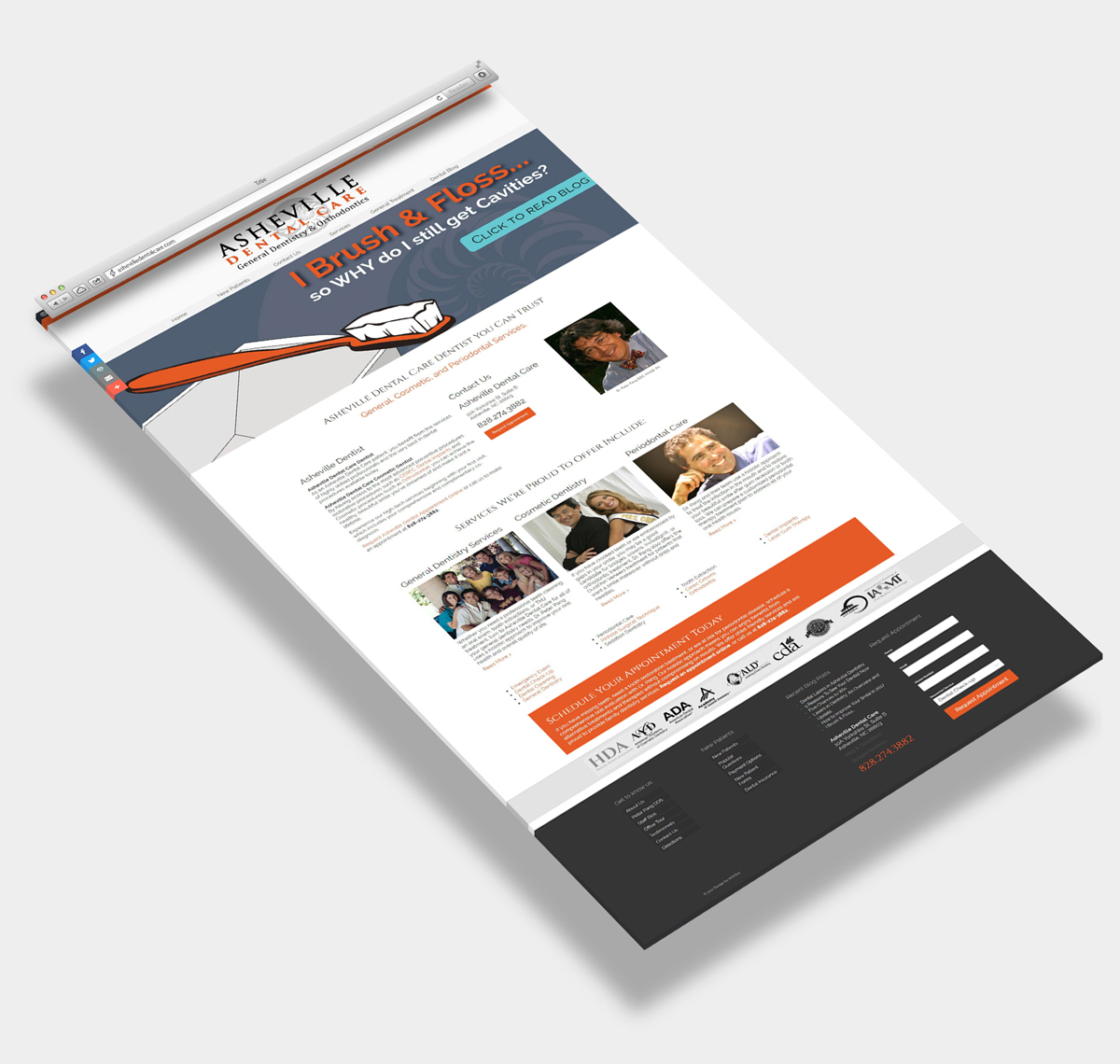Website Design Sample Asheville Dentist